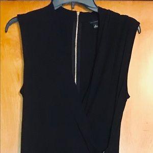 Ann Taylor Sleeveless Faux Wrap Dress 👠Sexy